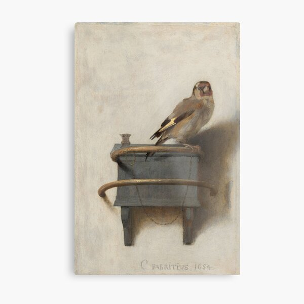 The Goldfinch (High Resolution), Carel Fabritius Metal Print