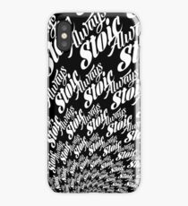 Always Stoic - Stay Stoic Always - Full Circle in White iPhone Case