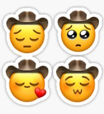 Cowboy uwu emoji STICKER PACK - cowboy emoji sad uwu Sticker