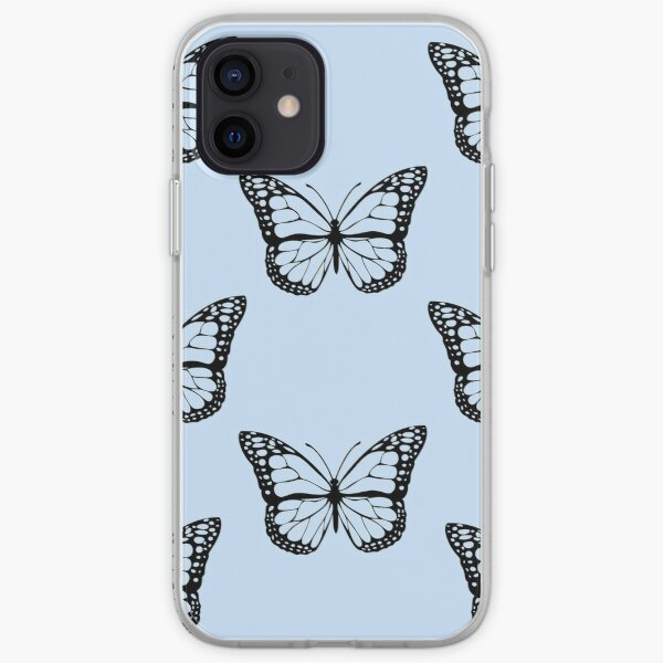 Black and Blue Butterflies iPhone Soft Case