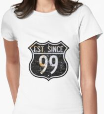 """""""Route 66""""   Est. Since 99' Women's Fitted T-Shirt"""