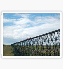 Train on the Bridge Sticker