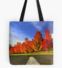 Autumn Road HDR. Tote Bag