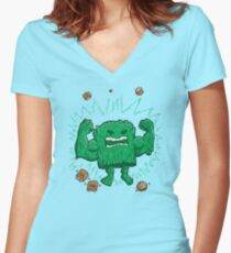 The Strongest Log of ALL Women's Fitted V-Neck T-Shirt
