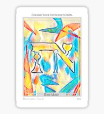 Expand Your Interpretation card from Eht/Aht: a netivot wisdom oracle Sticker
