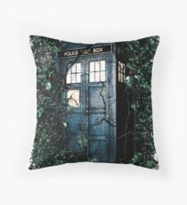 Police Box in The Garden Hoodie / T-shirt Throw Pillow