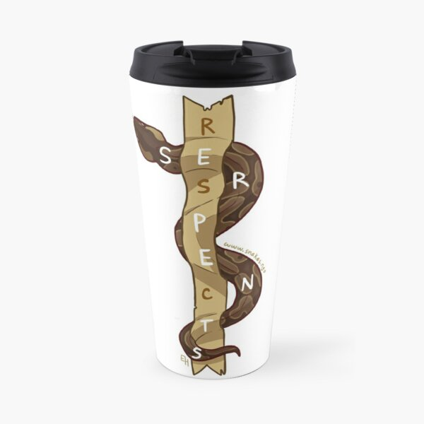 Respect Serpents: Ball Python Travel Mug
