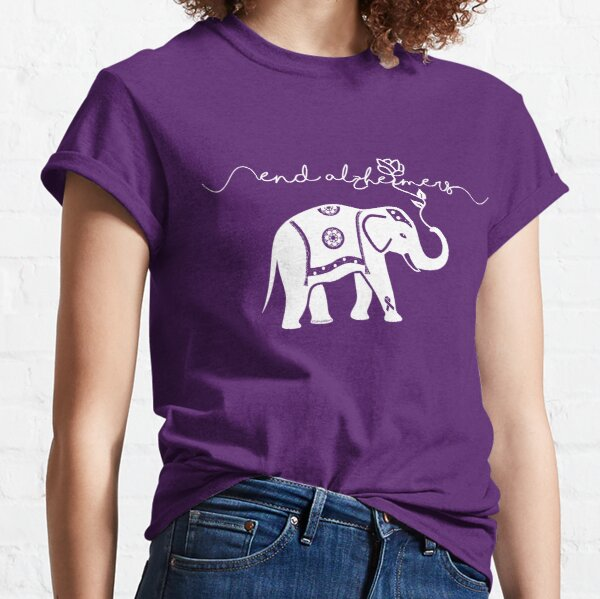 End Alzheimers with elephant  Classic T-Shirt