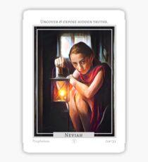 Neviah (Prophetess) from Eht/Aht: a netivot wisdom oracle Sticker