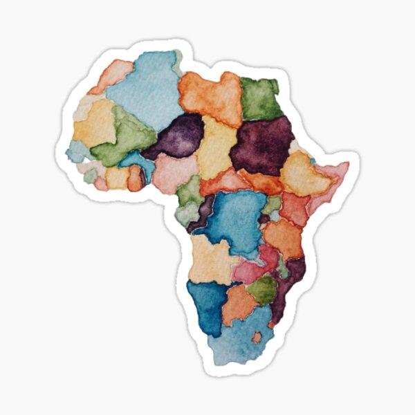 Watercolor Africa Sticker