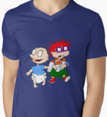 Rugrats Tommy und Chuckie T-Shirt mit V-Ausschnitt