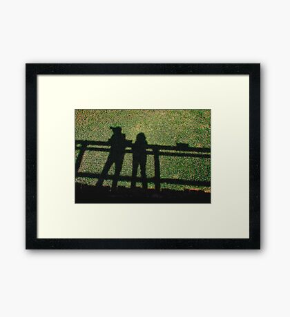 Two RB Artists at San Diego Wild Animal Park  Framed Print