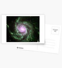Pinwheel Galaxy [Green Pink] Postcards