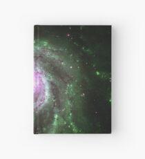 Pinwheel Galaxy [Green Pink] Hardcover Journal