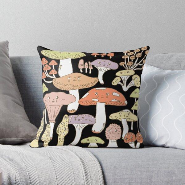 Cute Mushrooms Throw Pillow