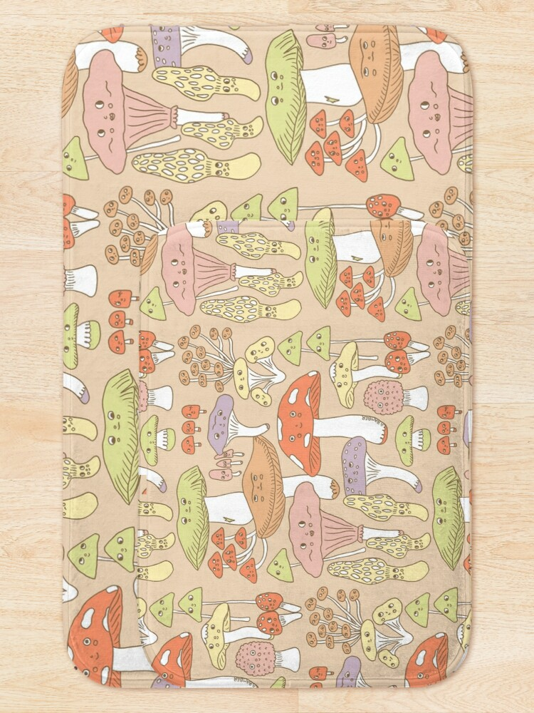 Alternate view of Cute Mushrooms Bath Mat