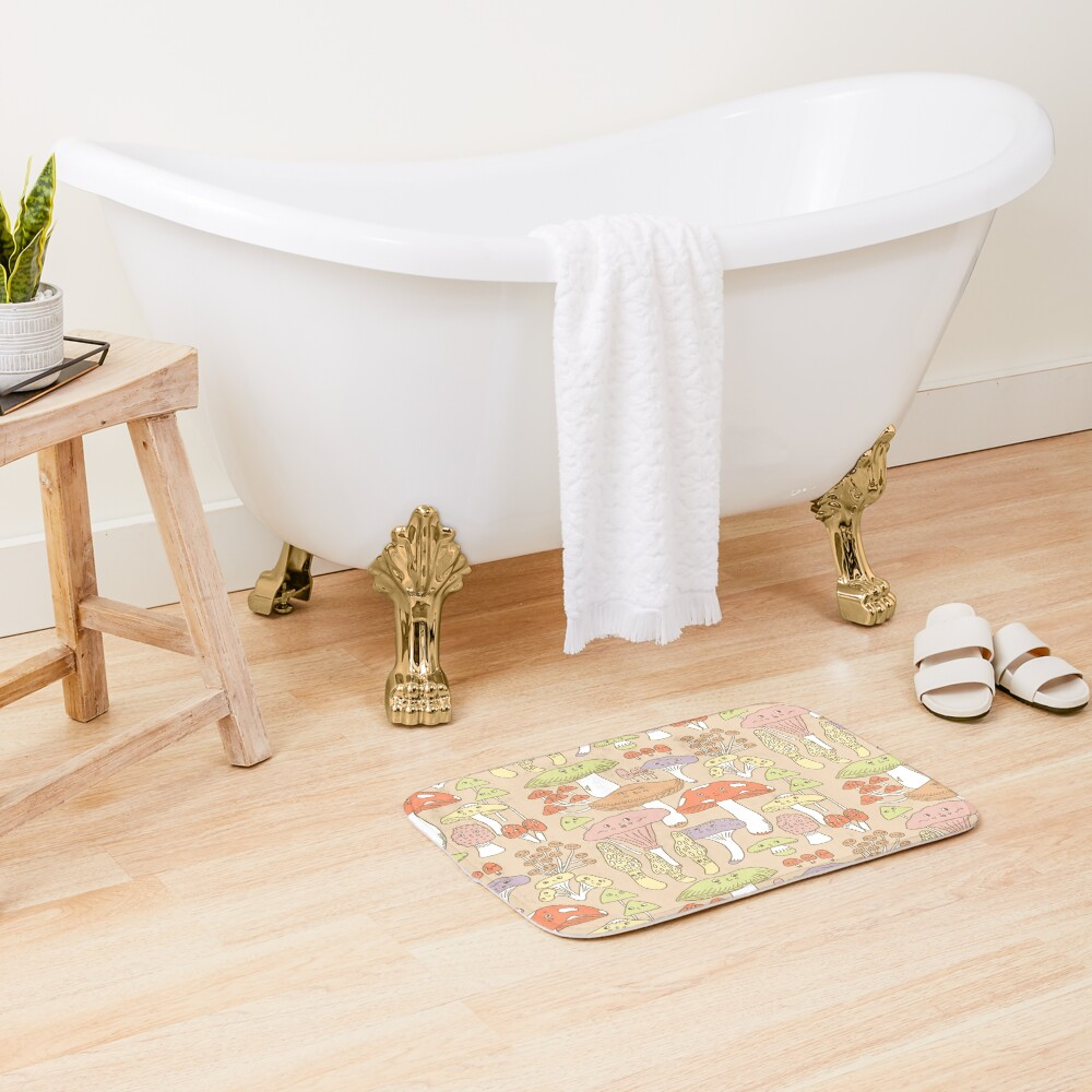 Cute Mushrooms Bath Mat