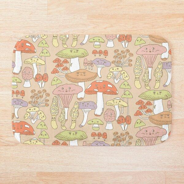 Cute Mushrooms Bath Mat