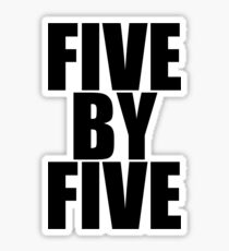 Five by five Sticker