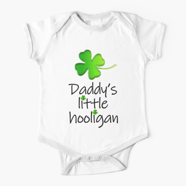 Daddy's Little Hooligan Short Sleeve Baby One-Piece