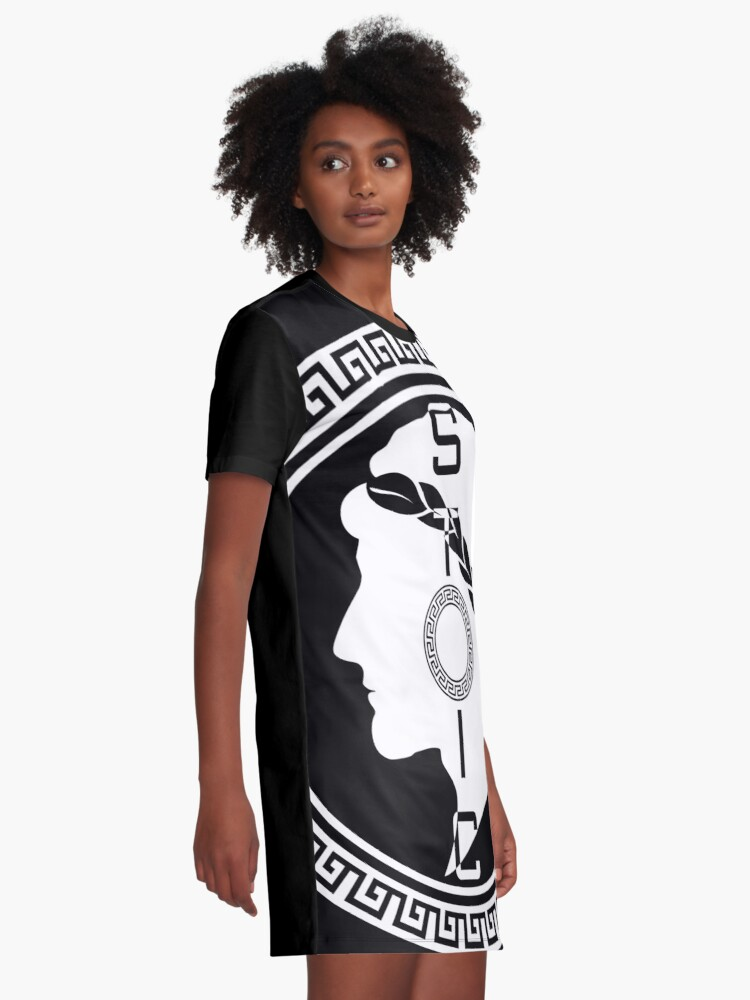 Alternate view of The Stoic - Stoic Emblem - Stay Stoic Graphic T-Shirt Dress