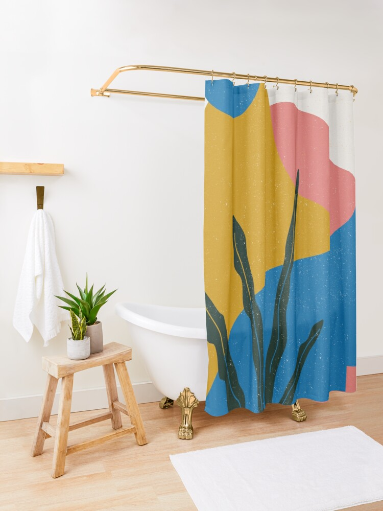 Alternate view of Road Trip Shower Curtain