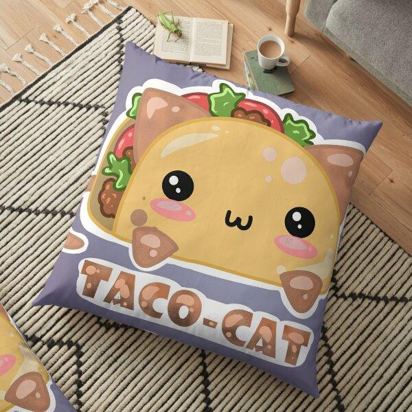 Taco - Cat - by Atieanna  Floor Pillow