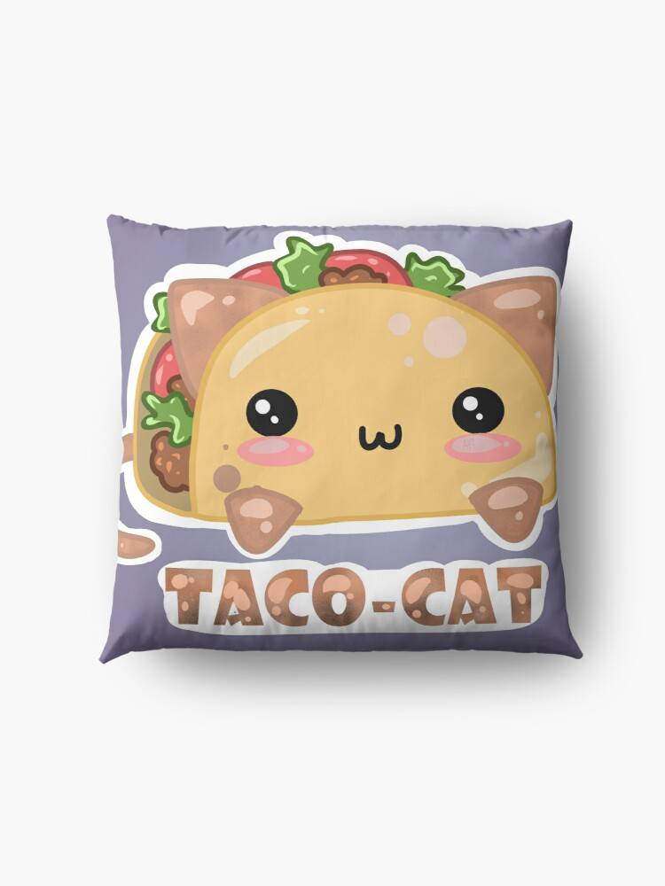Alternate view of Taco - Cat - by Atieanna  Floor Pillow