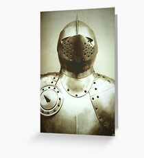 Knight Armour Greeting Card