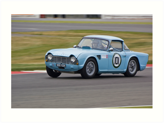 Triumph Tr4 Art Prints By Willie Jackson Redbubble