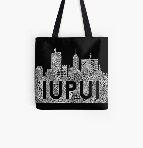 Zentangle IUPUI Invert All Over Print Tote Bag