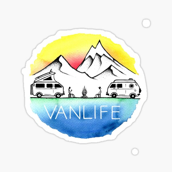 Vanlife logo Sticker