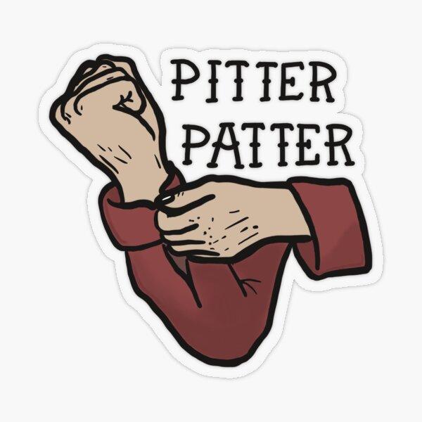 Pitter Patter 2 Transparent Sticker