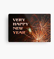 Happy New Year........ Metal Print