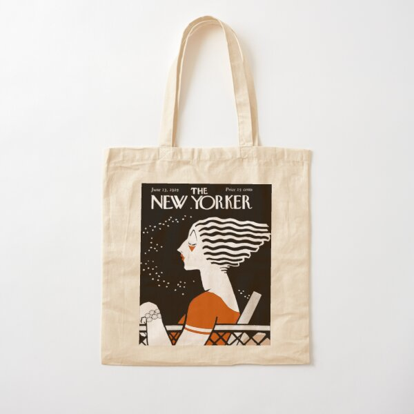 NEW YORKER : Vintage 1935 Magazine Cover Print Cotton Tote Bag