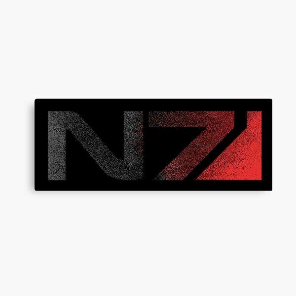 Mass Effect N7 Distressed Logo Canvas Print