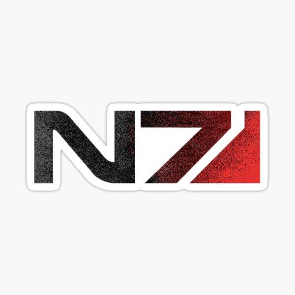 Logo Mass Effect N7 Distressed Sticker