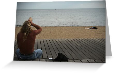 Man at Beach Part III by StephChesna