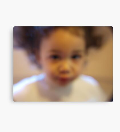 my little sweetie... Canvas Print