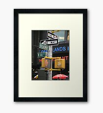 Sights and Sounds of New York Framed Print