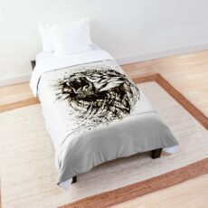 Lion Tiger Abstract Graphic Comforter