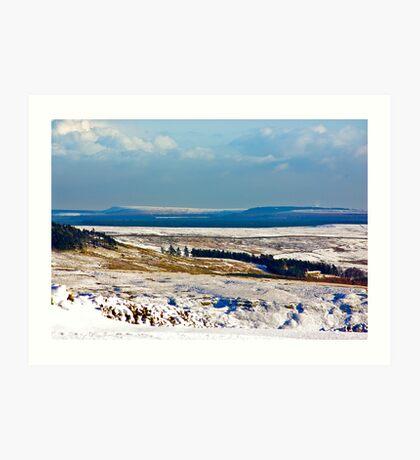 Winter on the North Yorks Moors Art Print