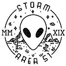 Storm Area 51 Vintage Stamp Logo (Black) by krisdrawsthings