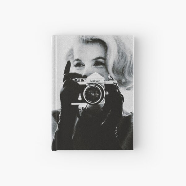 Marilyn Monroe with her Camera Hardcover Journal