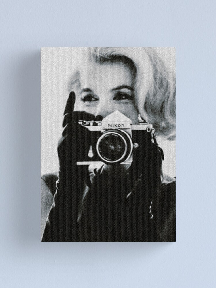 Alternate view of Marilyn Monroe with her Camera Canvas Print