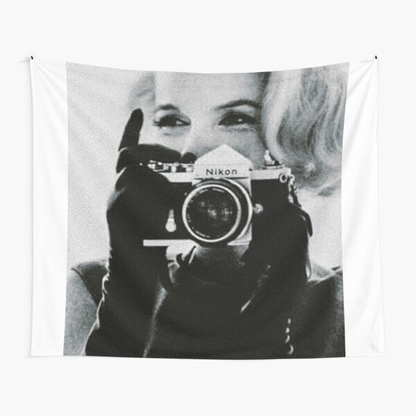 Marilyn Monroe with her Camera Tapestry