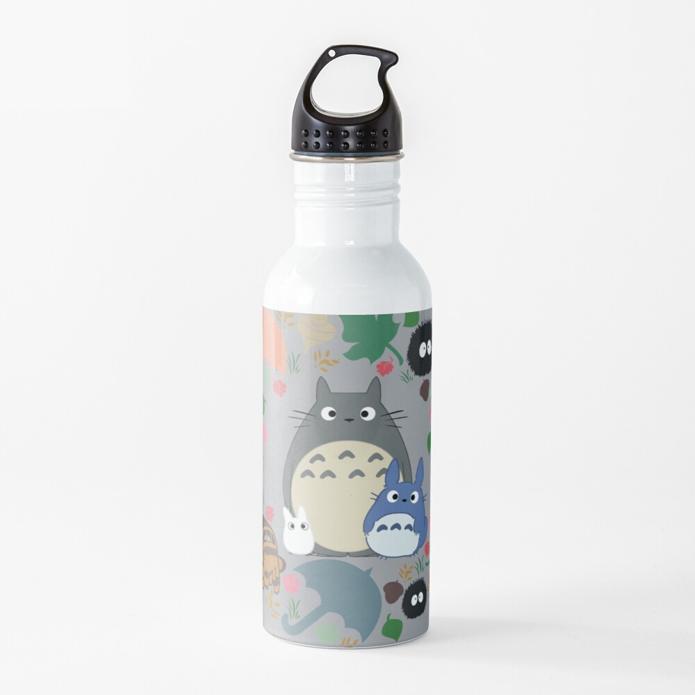 Mein Nachbar Totoro Kranz - Anime, Catbus, Ruß Sprite, Blau Totoro, Weiß Totoro, Senf, Ocker, Regenschirm, Manga, Hayao Miyazaki, Studio Ghibl Trinkflasche