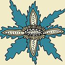Turquoise Voynich Flowers by mintdawn