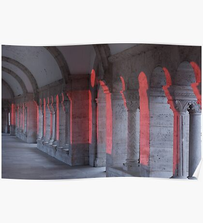 Pink Light hits Fishermans Bastion Budapest (viewed 100 times) Poster