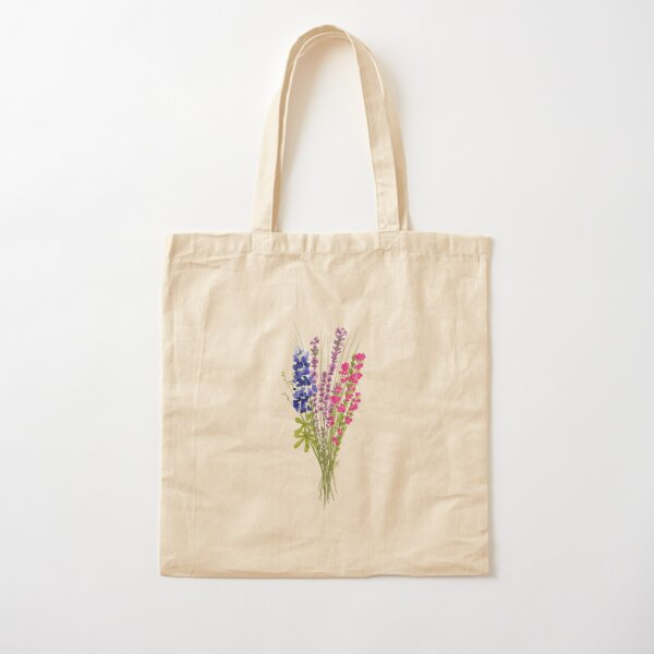 subtle bi pride flowers Cotton Tote Bag